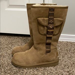 Cargo UGG Boots with Buckle Side Pocket